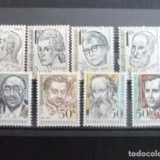 Sellos: CHECOSLOVAQUIA TCHÉCOSLOVAQUIE 1981 PERSONAJES CELEBRES YVERT 2428 / 2435 ** MNH. Lote 180992052