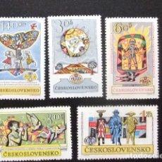 Sellos: CHECOSLOVAQUIA TCHÉCOSLOVAQUIE 1962 EXPOSICION FILATELICA PRAGA YVERT 1230 / 1234 ** MNH. Lote 76933541