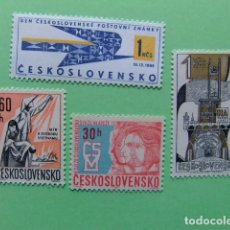 Sellos: CHECOSLOVAQUIA TCHÉCOSLOVAQUIE 1965 LOTE YVERT 1535 + 1537 + 1538 + 1576 ** MNH. Lote 180992256