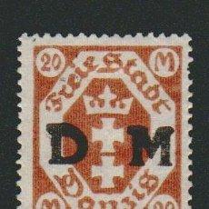 Sellos: DANTZIG.1921-23.TIMBRE DE SERVICIO.20 FENNING.YVERT 4.USADO.. Lote 77246369