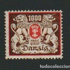 Sellos: DANTZIG.1921-23.- 1000 MARK.YVERT 111.NUEVO CON GOMA.FIJASELLOS.. Lote 77246893