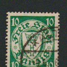 Sellos: DANTZIG.1924-33.- 10 FENNIG.YVERT 178.USADO.. Lote 77251241