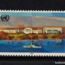 Sellos: NACIONES UNIDAS GINEBRA 187* - AÑO 1990 - PALACIO DE NACIONES UNIDAS, GINEBRA. Lote 77282641