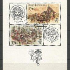 Sellos: SELLOS DE LA REPÚBLICA CHECA, HOJA BLOQUE Nº 4 DEL CATÁLOGO YVERT. USADA. Lote 80241949