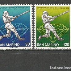 Timbres: SAN MARINO YVERT NUM. 958/959 ** SERIE COMPLETA SIN FIJASELLOS. Lote 264856749