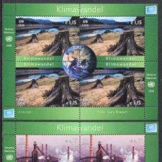 Sellos: NACIONES UNIDAS (SEDE VIENA) - CAMBIO CLIMATICO - 2 HB (2008) **. Lote 84747128