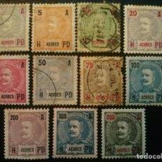 Sellos: AZORES AÇORES , YVERT Nº 98 - 108 SERIE COMPLETA , 1906. Lote 85848884