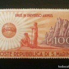 Sellos: SAN MARINO , YVERT Nº 278 * CHARNELA , 1946. Lote 86386916