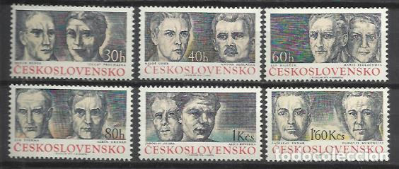 Q672-SERIES CHECOSLOVAQUIA MNH** REPUBLICA CHECA.1974 Nº2029/34 (Sellos - Extranjero - Europa - Otros paises)