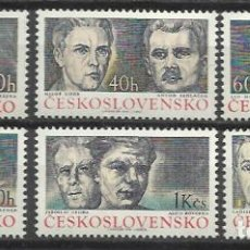 Sellos: Q672-SERIES CHECOSLOVAQUIA MNH** REPUBLICA CHECA.1974 Nº2029/34. Lote 86576320