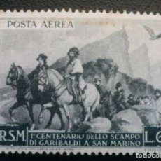 Sellos: SAN MARINO , CORREO AÉREO , YVERT Nº 72 * , CHARNELA , ÓXIDO. Lote 86721764