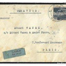 Sellos: CHECOSLOVAQUIA. 1931 CARTA VOLADA DE PRAGA A PARIS.. Lote 87412056