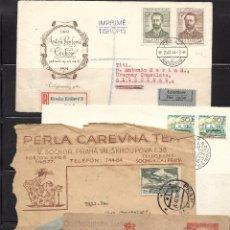 Sellos: CHECOSLOVAQUIA, CONJUNTO DE 10 PIEZAS DE HISTORIA POSTAL. Lote 88337284