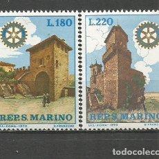 Sellos: SAN MARINO YVERT NUM. 764/765 ** SERIE COMPLETA SIN FIJASELLOS. Lote 186171918