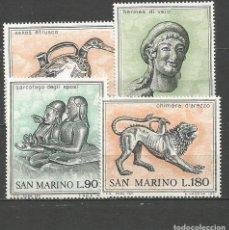 Sellos: SAN MARINO YVERT NUM. 787/790 ** SERIE COMPLETA SIN FIJASELLOS. Lote 90749545