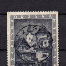 Selos: CROACIA 104 - AÑO 1943 - IGLESIA DE SANTA MARIA. Lote 96284875