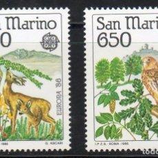 Sellos: SAN MARINO AÑO 1986 YV 1133/34*** EUROPA - PROTECCIÓN DE NATURALEZA Y MEDIO AMBIENTE - AVES - FAUNA. Lote 98810743