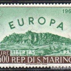 Sellos: SAN MARINO AÑO 1961 YV 523*** EUROPA-CEPT - VISTAS Y PAISAJES - MONTE TITAN - TURISMO. Lote 98813419
