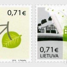 Sellos: LITUANIA 2016 EUROPA 2016 - THINK GREEN . Lote 101215443