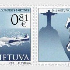 Sellos: LITUANIA 2016 XXXI JUEGOS OLIMPICOS RIO DE JANEIRO 2016 . Lote 101217119