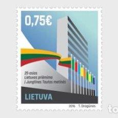 Sellos: LITUANIA 2016 25º ANIVERSARIO DE LA ADHESIÓN DE LITUANIA A LAS NACIONES UNIDAS. Lote 101217807