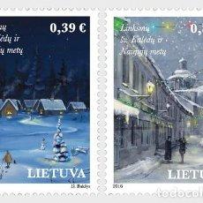 Sellos: LITUANIA 2016 SANTA NAVIDAD Y AÑO NUEVO 2016. Lote 101706159