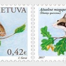 Sellos: LITUANIA 2017 EL LIBRO ROJO DE LITUANIA. ROEDORES. Lote 101707223
