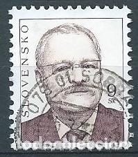 ESLOVAQUIA,IVAN GASPAROVIC,2005,YVERT 450,USADO (Sellos - Extranjero - Europa - Otros paises)