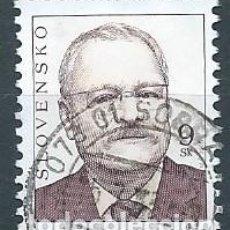 Sellos: ESLOVAQUIA,IVAN GASPAROVIC,2005,YVERT 450,USADO. Lote 269106143