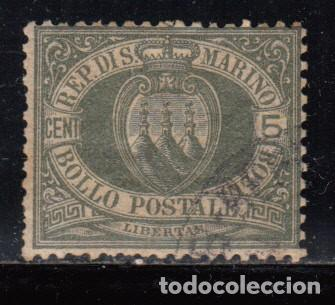SAN MARINO , 1892 - 1894 YVERT Nº 13 (Sellos - Extranjero - Europa - Otros paises)