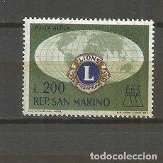 Sellos: SAN MARINO CORREO AEREO YVERT NUM. 125 ** SERIE COMPLETA SIN FIJASELLOS. Lote 107649555