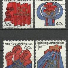 Selos: CHECOSLOVAQUIA - 1971 - MICHEL 2004/2007 - USADO. Lote 107902610