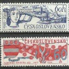 Selos: CHECOSLOVAQUIA - 1969 - MICHEL 1860/1865 - USADO. Lote 107904683