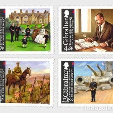 Sellos: GIBRALTAR 2010 - KING GEORGE V ANNIVERSARY - SET. Lote 113034507