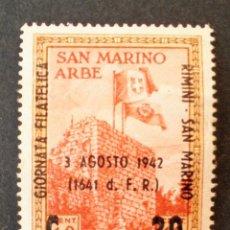 Sellos: SELLO 1942 SAN MARINO NUEVO EXPOSICIÓN FILATÉLICA INTERNACIONAL. Lote 114121939