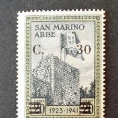 Sellos: SELLO 1942 SAN MARINO NUEVO SOBREIMPRESIÓN. Lote 114122379