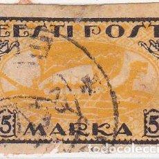 Sellos: 1919 - ESTONIA - DRAKKAR VIKINGO - YVERT 14. Lote 115231635