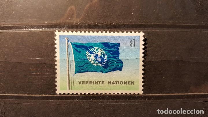 SELLO NUEVO NACIONES UNIDAS. OFICINA VIENA. BANDERA NACIONES UNIDAS. 24 AGOSTO 1979. YVERT 2. (Sellos - Extranjero - Europa - Otros paises)
