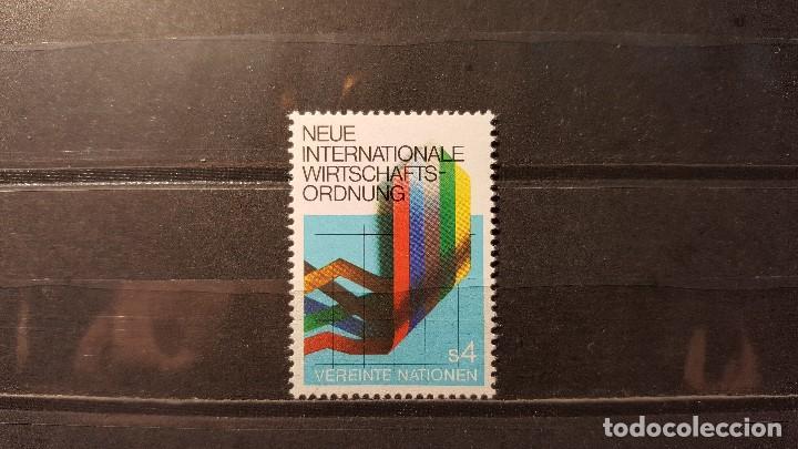 SELLO NUEVO NACIONES UNIDAS. OFICINA VIENA. NUEVO ORDEN ECONOMICO MUNDIA. 1 NOVIEMBRE 1980. YVERT 8 (Sellos - Extranjero - Europa - Otros paises)