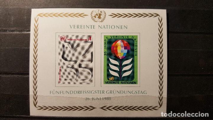 SELLO NUEVO NACIONES UNIDAS. OFICINA VIENA. 35 AÑOS DE LA O. N. U. 26 JUNIO 1980. YTVERT BF1. (Sellos - Extranjero - Europa - Otros paises)