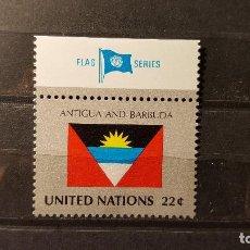 Sellos: SELLO NUEVO NACIONES UNIDAS.1986-09-19.ONU.OFICINA N. YORK. BANDERA ANTIGUA Y BARBUDA. YT NT-NY 476. Lote 118299143