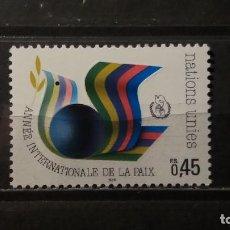 Sellos: SELLO NUEVO NACIONES UNIDAS.1986-05-22.ONU.OFICINA GINEBRA. AÑO INTERNACIONAL DE LA PAZ. YT GE145. Lote 118300775