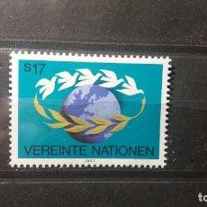 Sellos: SELLO NUEVO NACIONES UNIDAS.1987-06-12.ONU.OFICINA VIENA. PALOMAS DE LA PAZ. YT WN 74. Lote 118302551