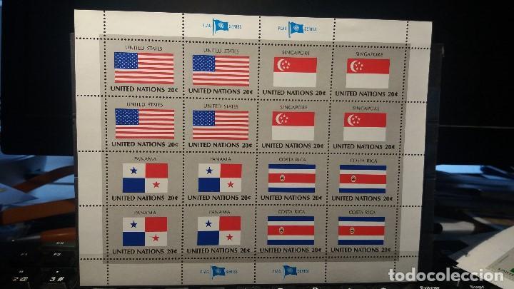 SELLO NUEVO NACIONES UNIDAS. BANDERAS. OFICINA N. YORK. 1981 (Sellos - Extranjero - Europa - Otros paises)