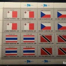 Sellos: SELLO NUEVO NACIONES UNIDAS. BANDERAS. OFICINA N. YORK. 1981. Lote 118340091
