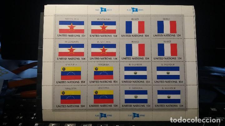 SELLO NUEVO NACIONES UNIDAS. BANDERAS. OFICINA N. YORK. 1983 (Sellos - Extranjero - Europa - Otros paises)