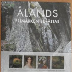 Sellos: ALAND FRIMARKEN BERATTAR 2010 2011 – ALBUM CON LOS SELLOS ANUALES DE ALAND DE LOS AÑOS 2010 Y 2011. Lote 118727299