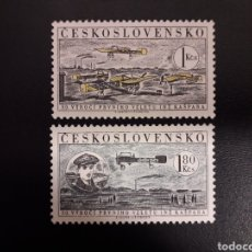 Sellos: CHECOSLOVAQUIA. YVERT A-47/8. SERIE COMPLETA NUEVA SIN CHARNELA. AVIONES.. Lote 119053167
