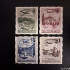 Sellos: CHECOSLOVAQUIA. YVERT A-36/9. SERIE COMPLETA NUEVA CON CHARNELA. AVIONES.. Lote 119053212