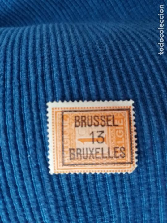 SELLO BÉLGICA CON MATASELLOS BRUSELAS 13 BRUSSEL BRUXELLES (Sellos - Extranjero - Europa - Otros paises)